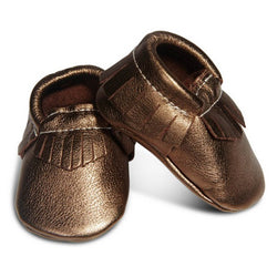 HUXBABY leather moccasins bronze