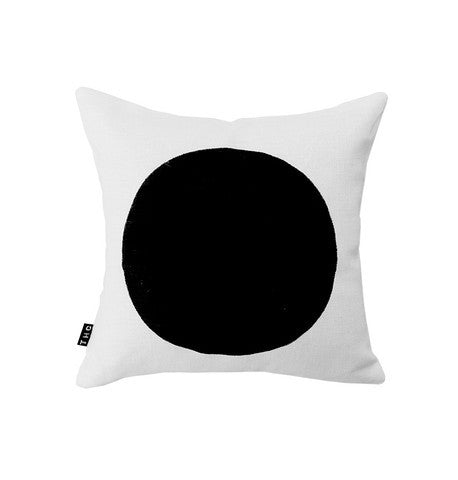 THE HOME COLLECTIVE mini pop cushion white on black