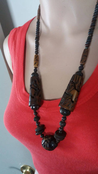 BOHEMIAN STYLE HANDCARVED BONE JEWELLERY