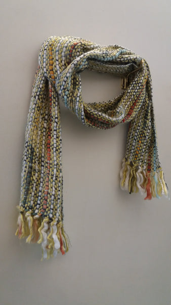 Bohemian style handcrafted  woven wool  scarves