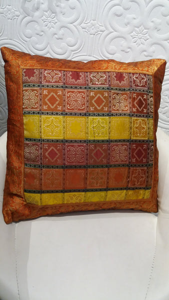 Bohemian style handcrafted ethnic Square cushion cover #784