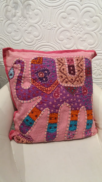 Bohemian style handcrafted ethnic Square cushion cover
