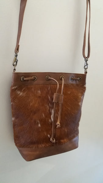 BOHEMIAN STYLE HANDCRAFTED 100% REAL LEATHER BAGS WITH NATURAL COWHIDE #12