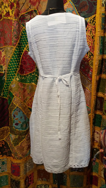 BOHEMIAN STYLE HANDCRAFTED WHITE TUNIC DRESS