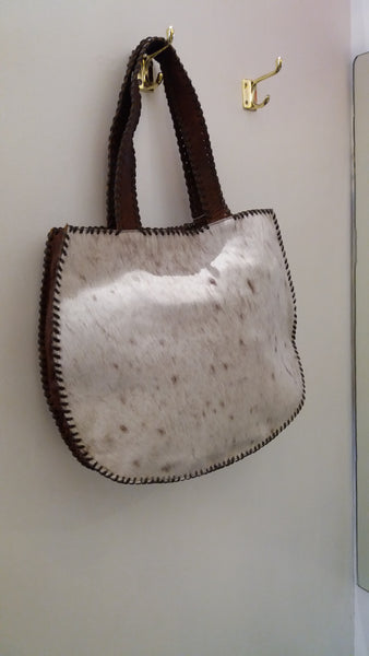BOHEMIAN STYLE HANDCRAFTED 100% REAL LEATHER BAGS WITH NATURAL COWHIDE #10