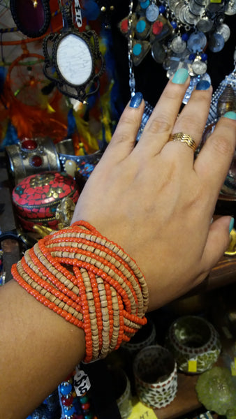 BOHEMIAN STYLE HANDCRAFTED HAND CUFF BANGLE# 3