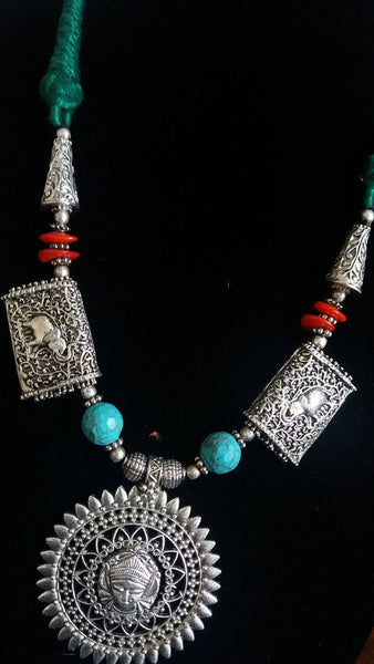 BOHEMIAN STYLE HANDCRAFTED VINTAGE GERMAN SILVER JEWELLERY