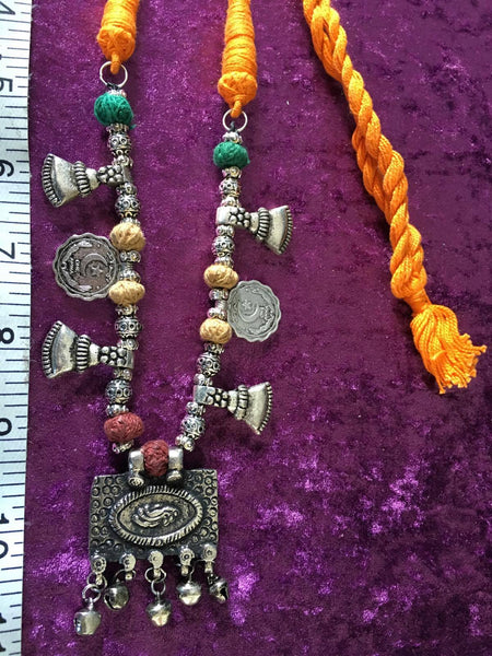 BOHEMIAN STYLE HANDCRAFTED VINTAGE  AFGHAN CHARMS NECKLACE