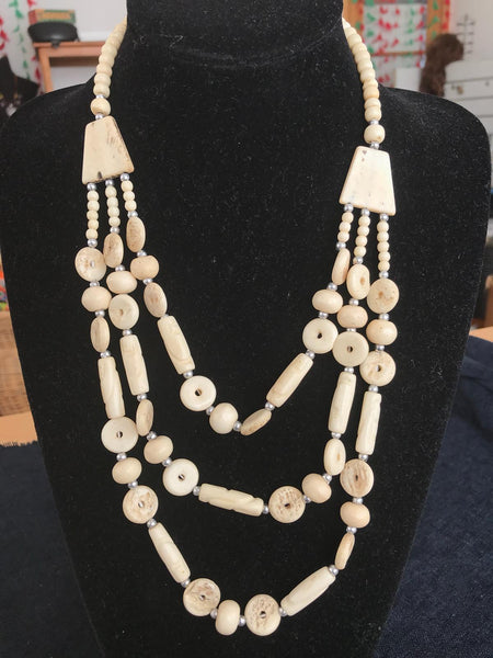 bohemian style handcrafted buffalo bone jewellery
