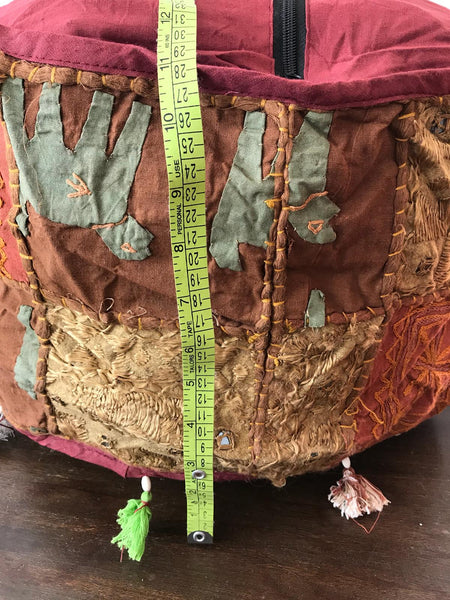 Bohemian style handcrafted patchwork vintage puffy seat