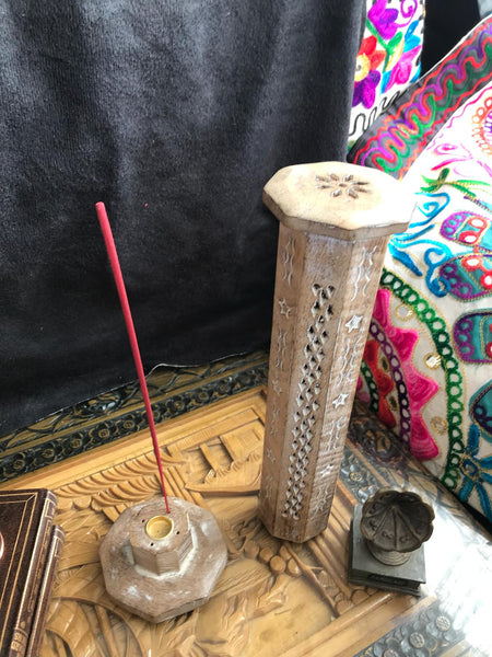 Bohemian style handcrafted wooden Ash Catcher