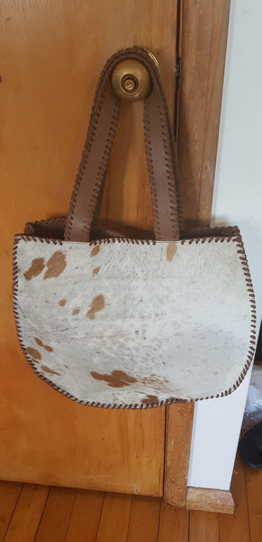 BOHEMIAN STYLE HANDCRAFTED 100% REAL LEATHER BAGS WITH NATURAL COWHIDE#4