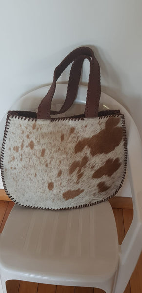 BOHEMIAN STYLE HANDCRAFTED 100% REAL LEATHER BAGS WITH NATURAL COWHIDE #1