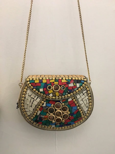 Bohemian style handcrafted metal/ brass bags #10