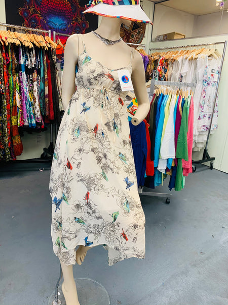 Bohemian style handcrafted Bird dress
