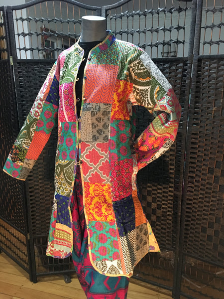 Bohemian stylehandcrafted Kantha / Quilt Jackets #0016