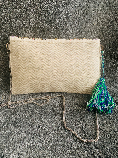 Bohemian style handcrafted Ethnic Clutch #0200