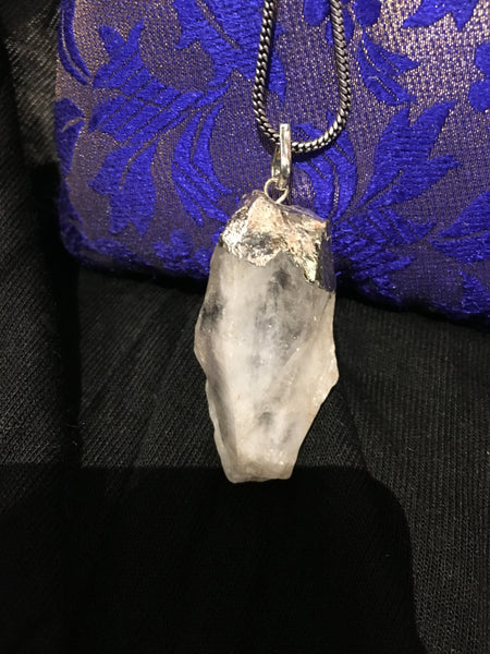 Bohemian style handcrafted Raw stone necklace # 1