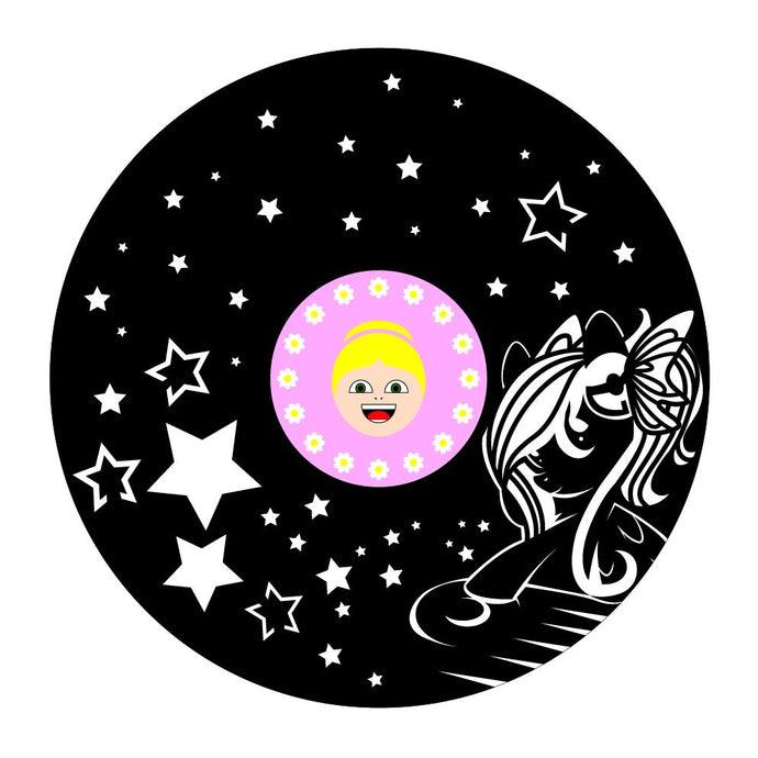 Unicorn and Stars Custom Vinyl Wall Art - VinylShop.US