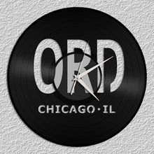 Airport Chicago Vinyl Wall Clock - VinylShop.US