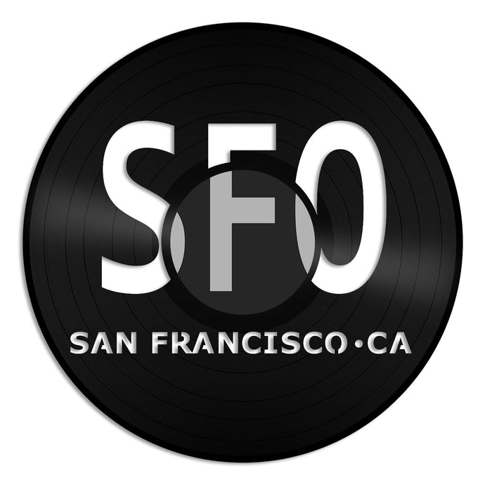 San Francisco Airport SOF Wall Vinyl Wall Art - VinylShop.US