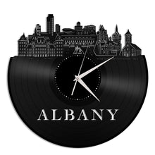 Albany New York Vinyl Wall Clock - VinylShop.US