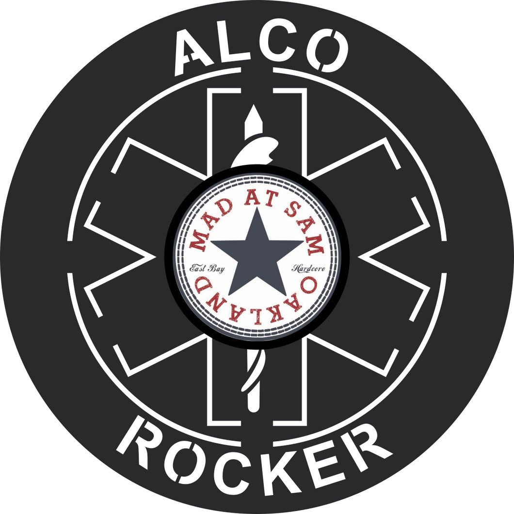 Alco Rocker Emergency Wall Art, Custom Label