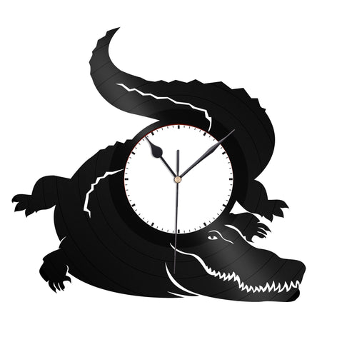 Alligator Vinyl Wall Clock - VinylShop.US