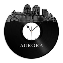 Aurora CO Vinyl Wall Clock