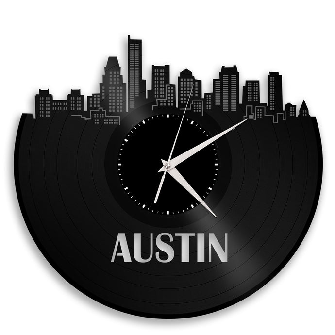 Austin Skyline Wall Clock - VinylShop.US