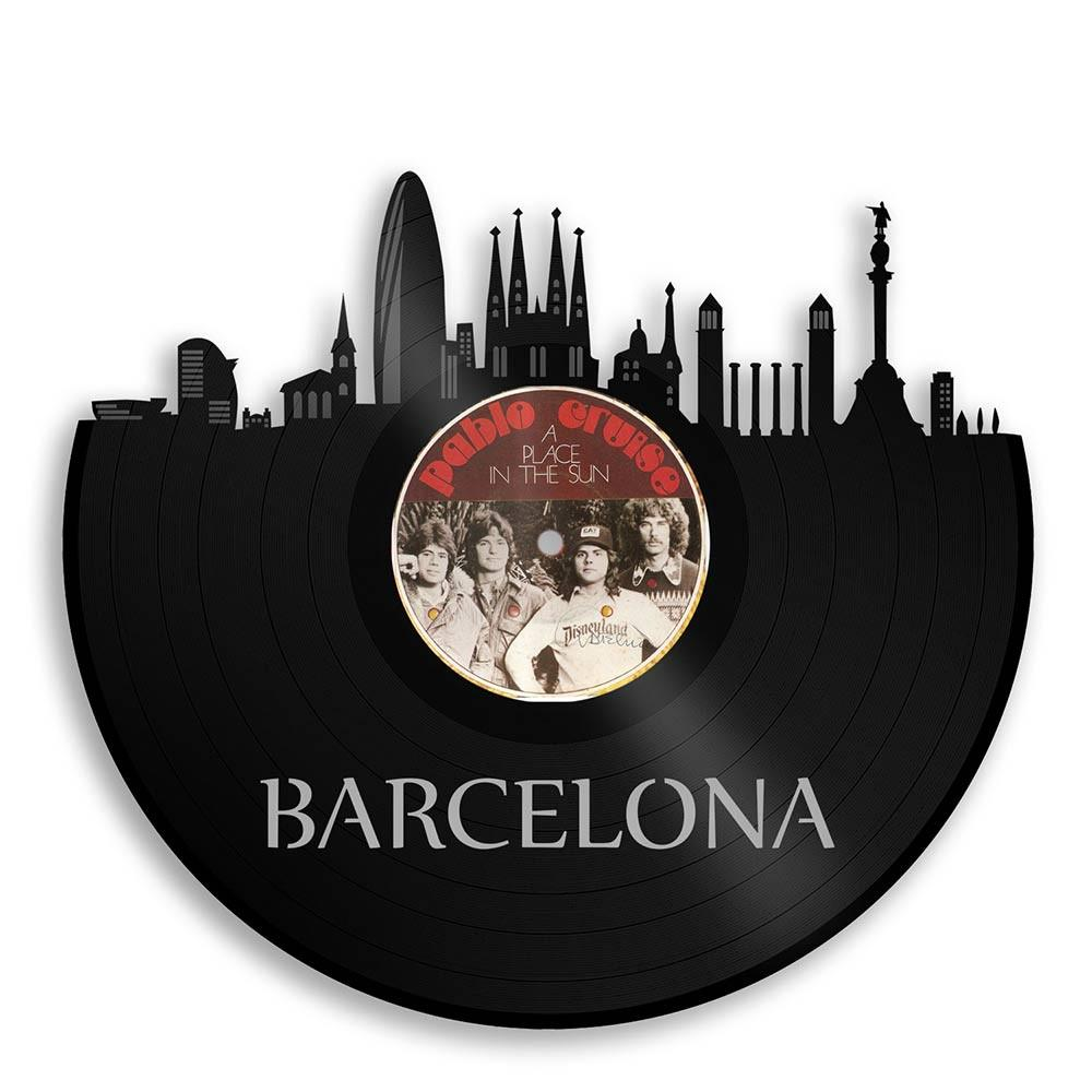 Unique Vinyl Wall Clock Barcelona