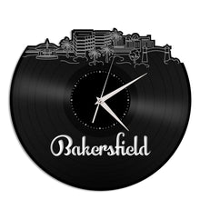 Bakersfield California Skyline Vinyl Wall Clock - VinylShop.US