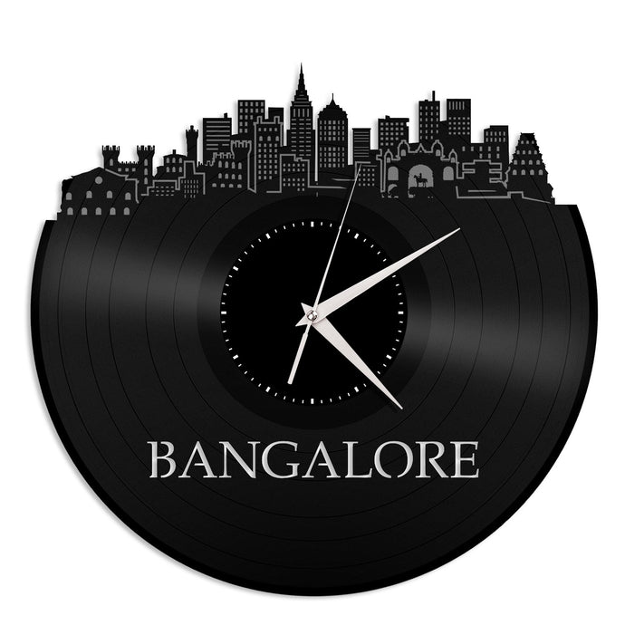 Bangalore Skyline VInyl Wall Clock - VinylShop.US