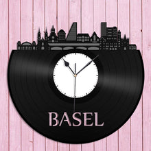 Basel Switzerland Skyline Vinyl Wall Clock - VinylShop.US