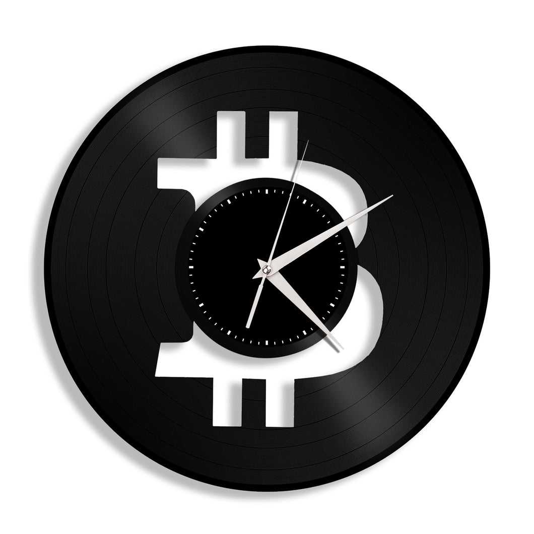 Bitcoin Vinyl Wall Clock
