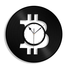 Bitcoin Vinyl Wall Clock - VinylShop.US