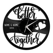 Better Together Vinyl Wall Clock