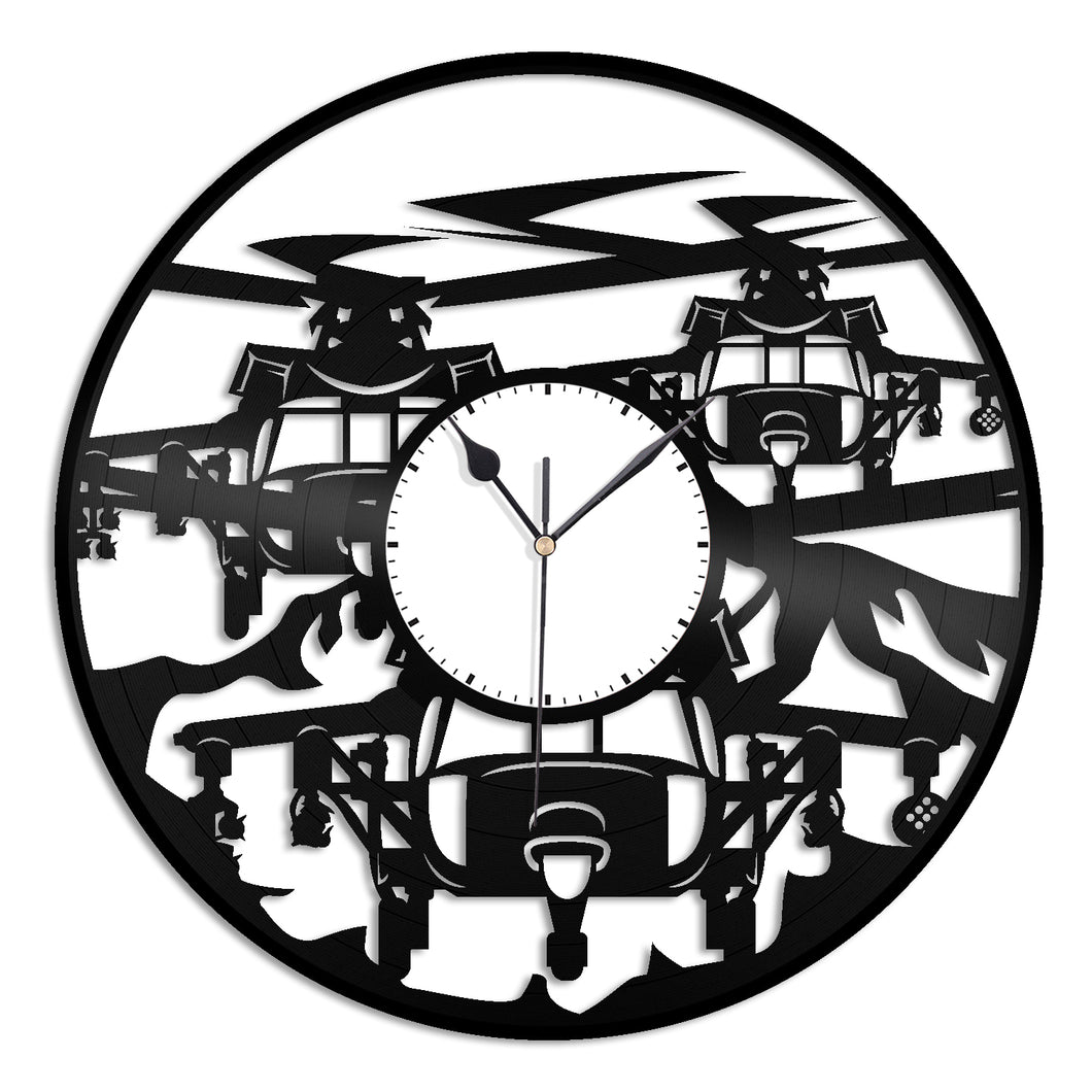 Blackhawk Chopper Vinyl Wall Clock - VinylShop.US