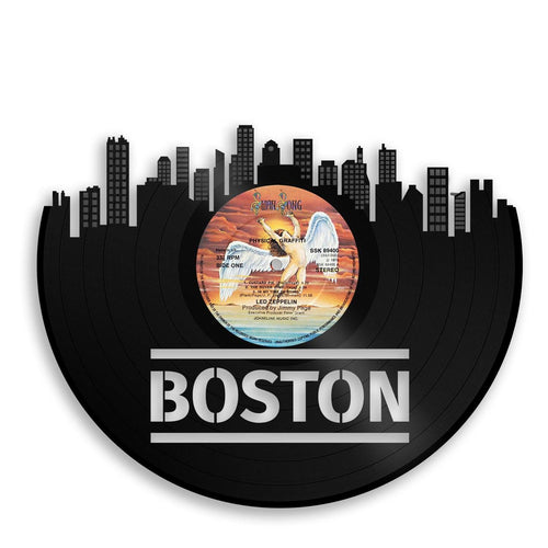 Boston Skyline Wall Art - VinylShop.US