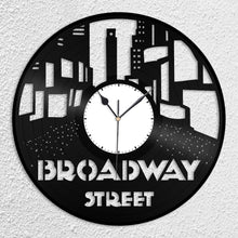 Broadway Street Vinyl Wall Clock