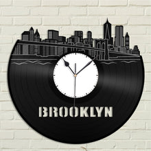 Brooklyn Skyline Vinyl Wall Clock - VinylShop.US