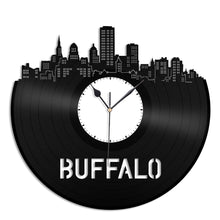 Buffalo Skyline Vinyl Wall Clock - VinylShop.US