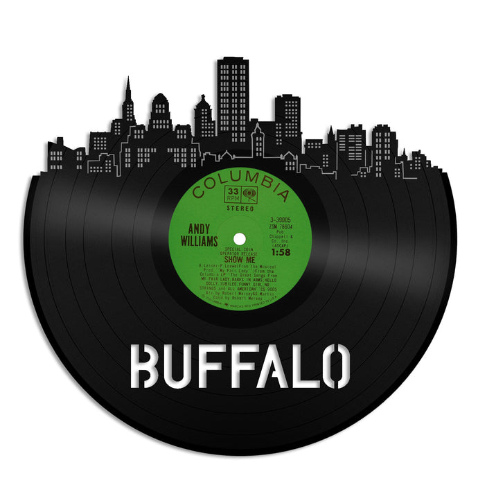 Buffalo Skyline Vinyl Wall Art - VinylShop.US