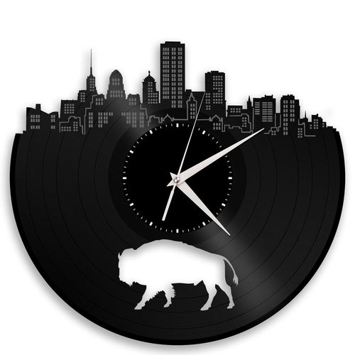 NY Buffalo Vinyl Wall Clock - VinylShop.US