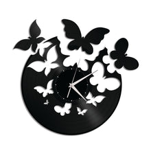 Butterflies Fly Vinyl Wall Clock