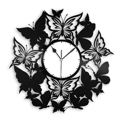 Butterflies Nursery Wall Clock - VinylShop.US