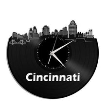 Cincinnati Skyline Vinyl Wall Clock - VinylShop.US