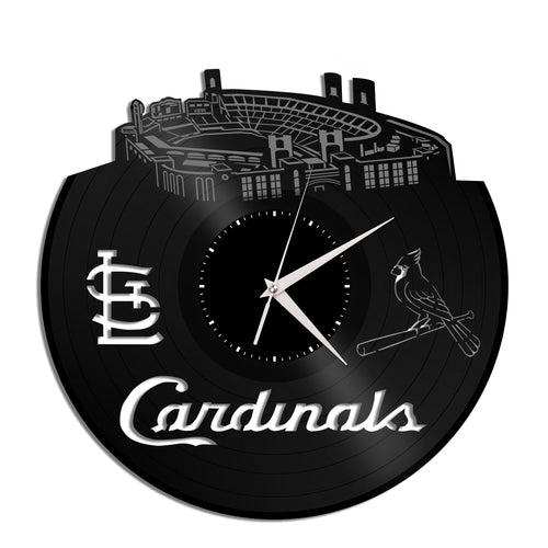 Cardinals Baseball Team Vinyl Wall Clock - VinylShop.US