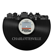 Charlottesville, Virginia skyline Vinyl Wall Art - VinylShop.US