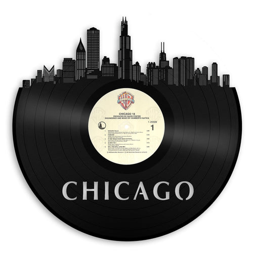 Chicago Skyline Vinyl Wall Art Updated - VinylShop.US